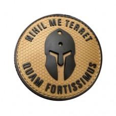PVC Patch - NIHIL ME TERRET, QUAM FORTISSIMUS- coyote