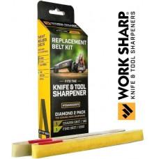 WorkSharp Knife and Tool Sharpener Diamond Belt Kit P180 / P1500